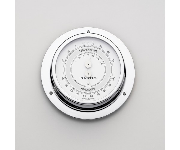 Thermometer/Hygrometer 83 mm chrome poli marinisé